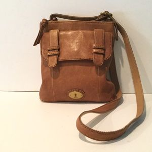 FOSSIL SADDLE LAMB SKIN CROSSBODY